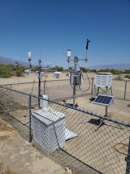 Dirk Baker setting up a station at Death Valley
