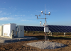 An automated weather station for solar-farm performance monitoring. This turn-key system was customized by Campbell Scientific to meet the specific requirements for Ontario solar farms.