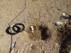 Monitoring of soil moisture volume and temperature (CS650 soil water content reflectometers)