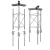 UTHD with optional Sun Tracker mounts and UTBASE mounting kits, exploded view (kits sold separately)