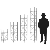 UTHD shown at the four user-selectable tower height options
