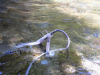 Sensor stand in the Cedar River