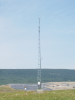 This meteorological tower transmits landfill site conditions via radio. (Photo courtesy of Robert Karpovich)