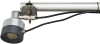 Bottom view of SR50AH-L mounted to a 19517 SR50A Mounting Kit and crossarm (sold separately)
