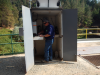 Michael McCool of GWS installing CR800 in instrument shelter (Photo courtesy of Ryan Coursey-Willis)