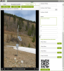 Database field entry with photo, annotation, and QR code
