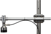 SR50A-L mounted to a crossarm using 19484 SR50A Mounting Stem and 17953 1 x 1 inch Nu-Rail crossover fitting (sold separately)