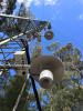Bouches d'admission de l'AP200 et sondes de température sur la tour à flux de Warra