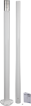10489 3 m white aluminum pole for et station (in two pieces)