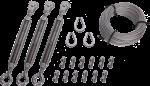 utguyss stainless-steel universal tower guy kit