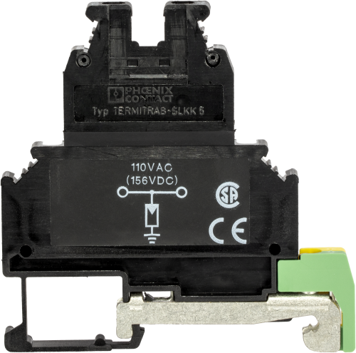 8206 1-Conductor Surge Protector with DIN Rail Mounts