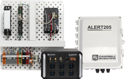 ALERT205 ALERT2 Transmitter with CR300 Datalogger, AL200 Modem, and VHF Radio