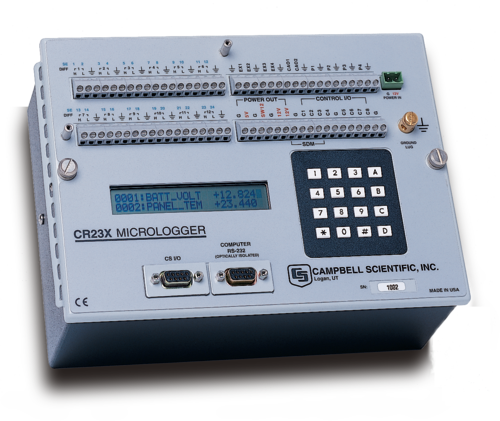 CR23X  Micrologger for Data Acquisition