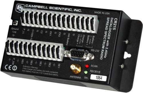 CR215 Datalogger with 2.4 GHz Spread Spectrum Radio