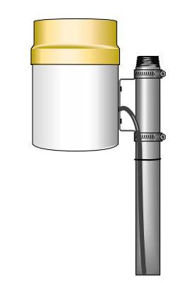 TE525-LQ Texas Electronics Rain Gage 0.01 in. (0.254 mm) Tip with 6 in. Orifice