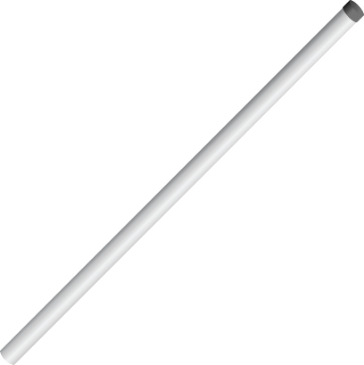 CM305 47 in. Mounting Pole with Cap