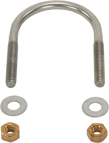 17492 Stainless-Steel U-Bolt Screw 5/16-18 x 2.125 with 2 Silicon Bronze Nuts