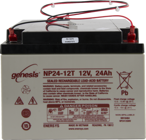 10075 BP24 24 Ah 12 V Sealed Rechargeable Battery without Mounting Hardware
