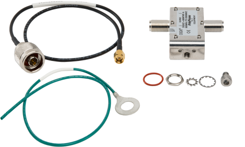 31324 Bulkhead Surge Protection Installed in Enclosure, GPS Antenna Type N to SMA