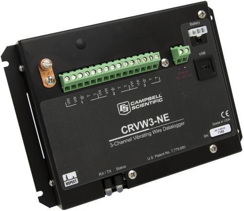 CRVW3-NE 3-Channel Vibrating-Wire Datalogger without Enclosure