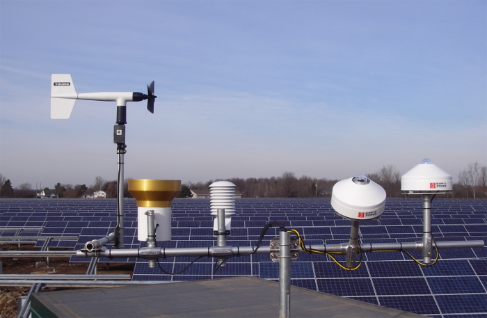 Campbell Scientific solar-farm weather-monitoring systems report back to the site SCADA system, where the data is integrated into a data historian for short/long-term performance, as well as the values being reported to the IESO.