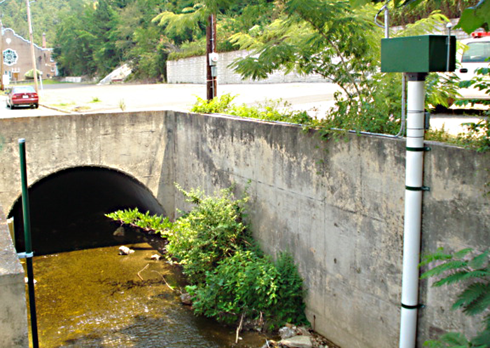 USGS gaging station on Whittington Creek north of Hot Springs