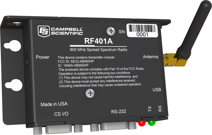 RF401A with attached antenna (sold separately)