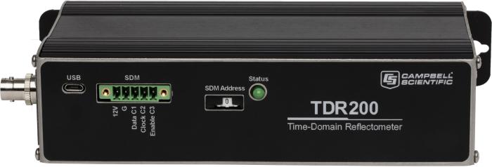 Vue de face du réflectomètre en domaine temporel TDR200